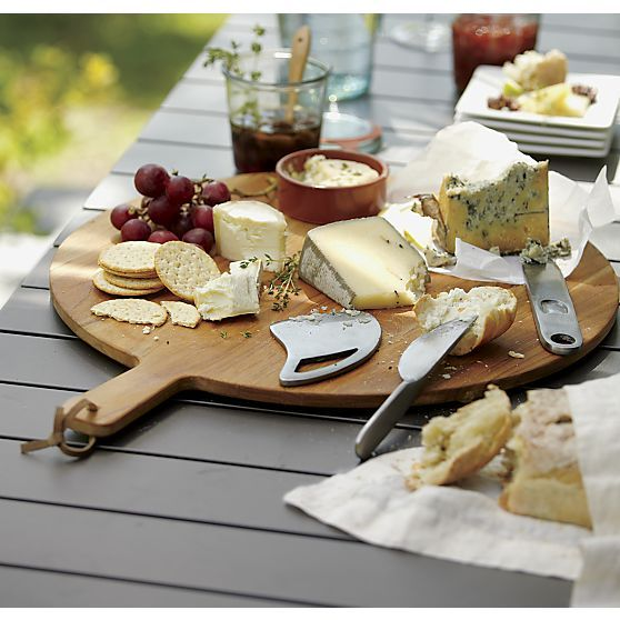 Crate and Barrel .. Love them! 3-Piece Farmhouse Cast Iron Cheese Knife Set I Crate and Barrel