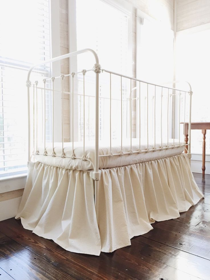 This listing is my Farmhouse Basic Washed Cotton Crib Skirt.  100% washed cotton farmhouse basic style gathered crib skirt in Natural. Finished length of skirt is approximately 20. This bedding is beautiful and classic, made all by hand with a soft washed 100% cotton fabric.  The washed cotton gathered crib skirt is shown in natural. Finished length of the crib skirt is 20. Also available in other colors... white, Ivory, baby pink, carnation, fig tree cream, seaglass, and more!  Let me know…