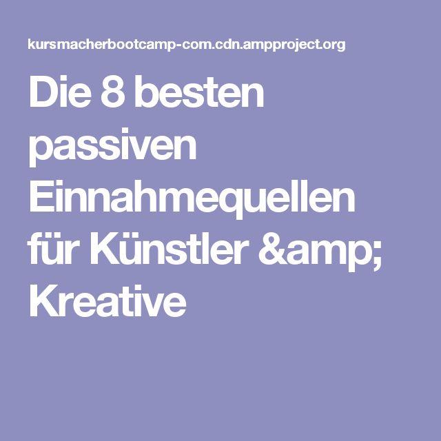 Die 8 besten passiven Einnahmequellen für Künstler & Kreative