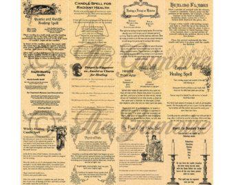 Appels à 12 livre des ombres Pages sorcellerie Wicca par MyGrimoire