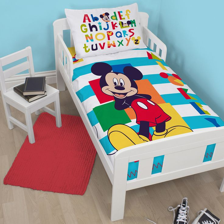 Your Little Boy Will Love This Great Junior Mickey Mouse Duvet Set Each Contains