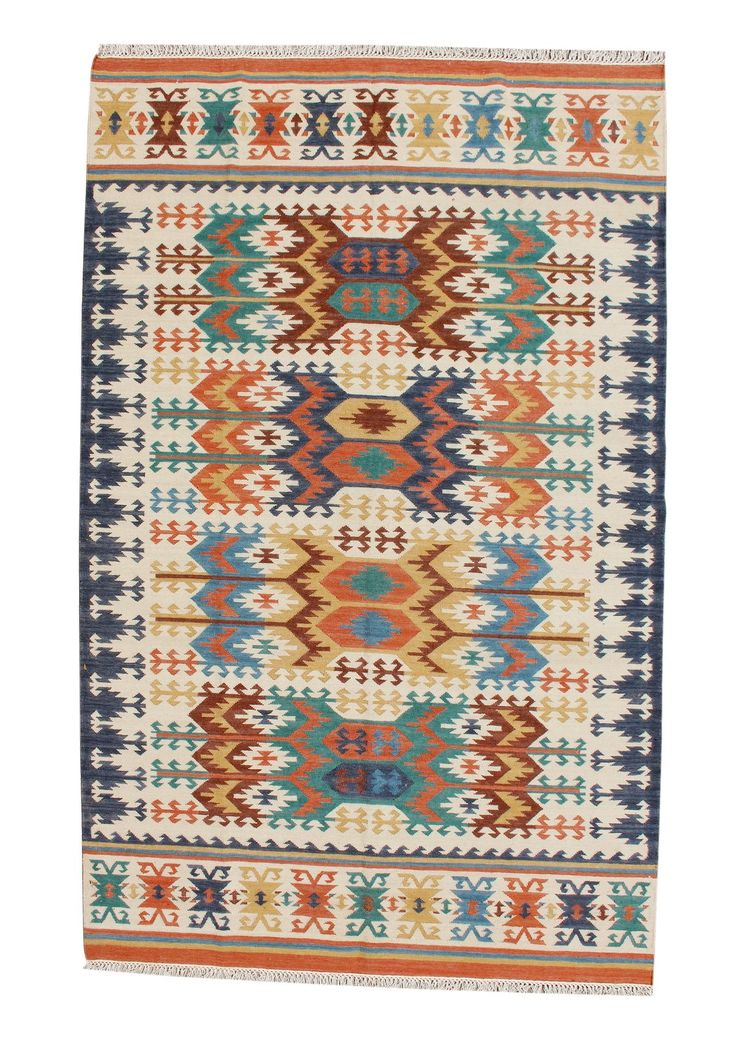 Teppich Im Orient Design   Kilim De Luxe 165 Multi Draufsicht