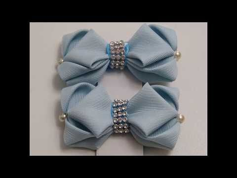 DIY Pares Moños Fáciles/Como Hacer Lazos/Moño en Cinta Gros Tutorial/How To Make A Hair Bow - YouTube