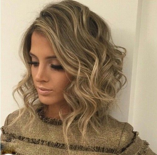 Messy Curly Long Bob Hairstyle