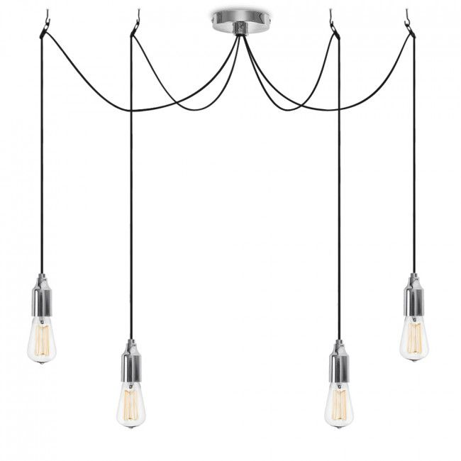 Industrial Style 4 Way Suspended Ceiling Light
