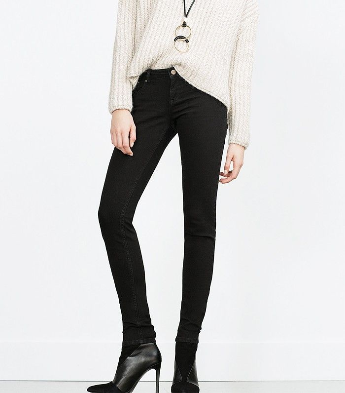 10 Slim Black Jeans to Wear With Your Boots This Fall via @WhoWhatWear