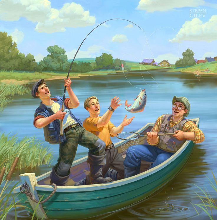 Спишь, рыбацкая открытка