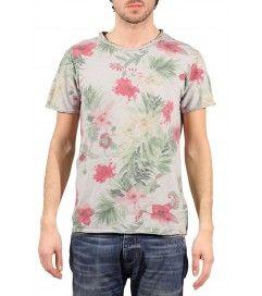 T-shirt cotone  J.Johnson fiori grigio