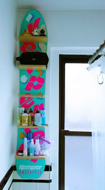 #Snowboard shelf - A great way to make use of their #Boys Toys!