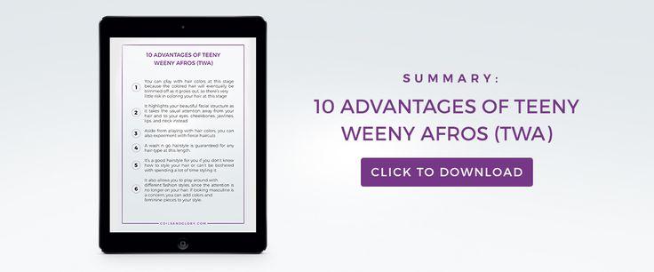 10 Advantages of Teeny Weeny Afros (TWA) | Coils & Glory