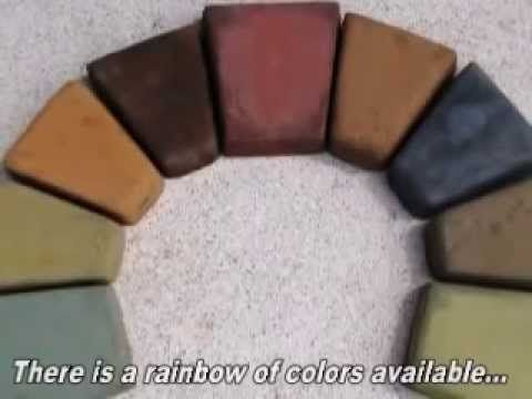 How to Color Bags of Premix Concrete to Cast Pavers, Cement Tile and Bricks - YouTube