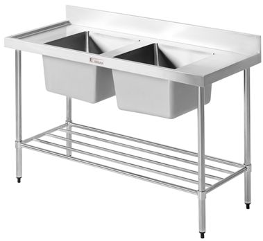 Commercial Sink Bench - Simply Stainless SS06.7.2400 Double Sink Bench-www.hoskit.com.au | Hoskit Online Store | Sydney, Melbourne, Perth, Brisbane