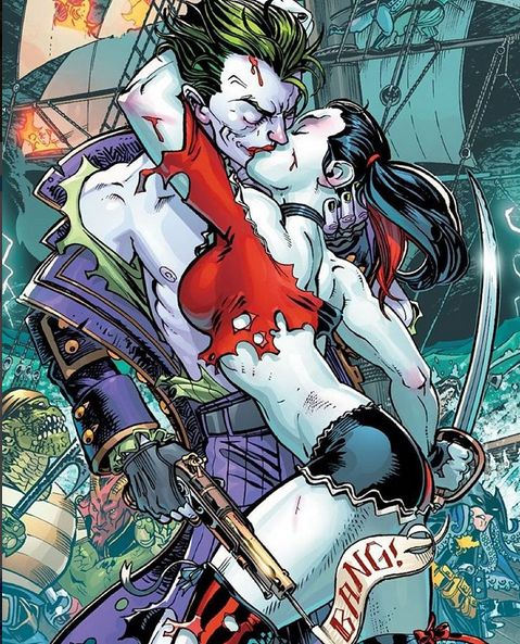 harley quinn and joker kiss - photo #21
