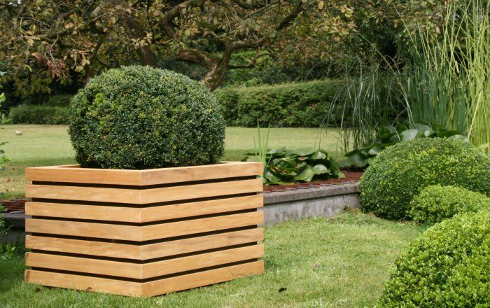 beam houten plantenbak van out-standing