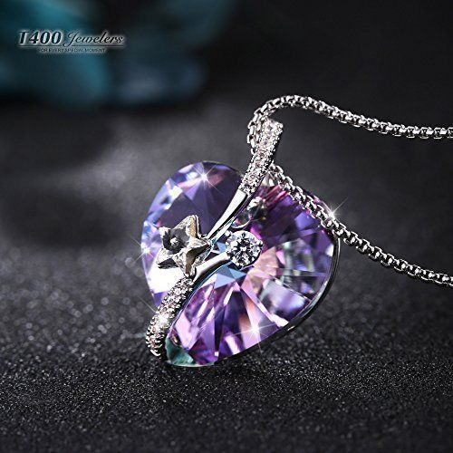 Mothers Day Gifts Gift For Mother Mom Girls Necklace Pendant Purple Heart NEW  #T400Jewelers
