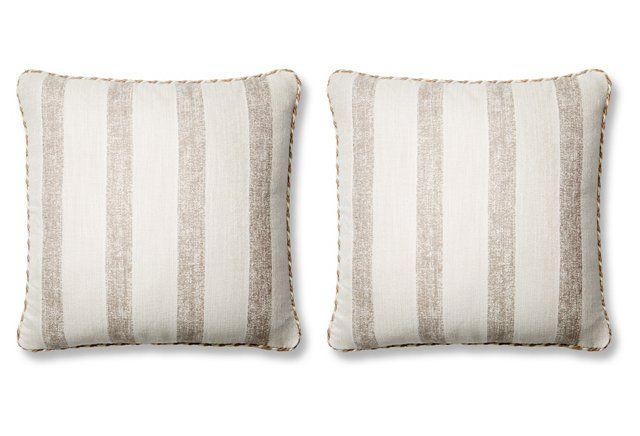 S/2 Bark 20x20 Sunbrella Pillows, Gray
