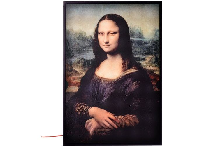 Virgil Abloh X Ikea Markerad Mona Lisa Backlit Artwork Multicolor Mona Lisa Large Canvas Wall Art Portrait Girl