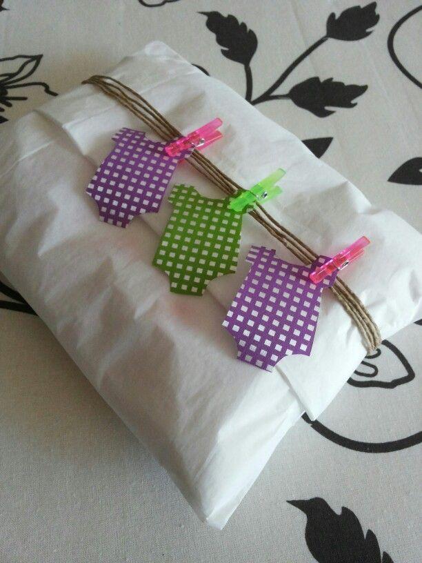 Envoltura de regalo para beb regalos pinterest - Envoltorios regalos originales ...
