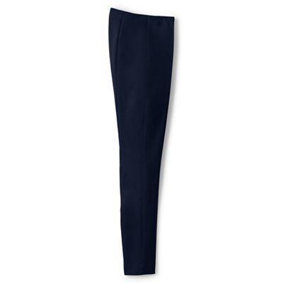 Lands' End Blue regular mid rise bi-stretch trousers | Debenhams