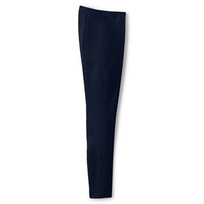 Lands' End Blue regular mid rise bi-stretch trousers | Debenhams