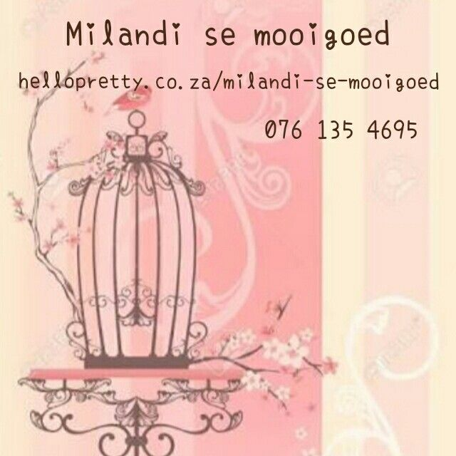 Find beautiful handmade items at hellopretty.co.za/milandi-se-mooigoed - great prices, beautiful pieces!