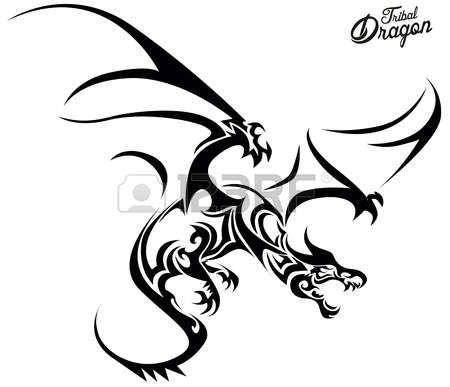 Amazing drachen tattoo Tribal Dragon Illustration