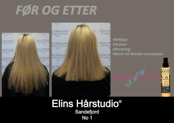 Lys blond langt hår til lys blond skulderlangt hår