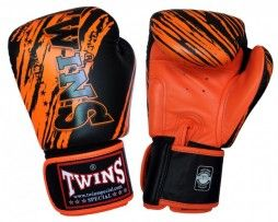 TWINS BOXING GLOVES BLACK ORANGE TW 2