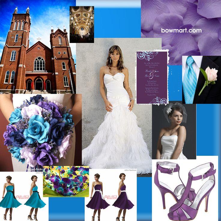 Aqua Wedding Reception Decorations Purple Receptions Colors