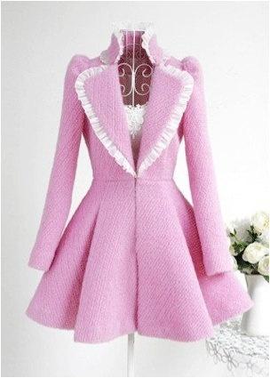 Cute pink coat