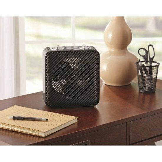Portable Small Electric Fan Heater Black From Pelonis 3 Adjustable Settings New #Pelonis