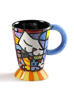 Romero Britto Cat Mug