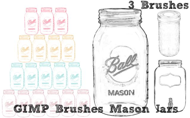 Free gimp brushes mason jars miniature masterminds for Pebeo vitrea 160 glass paint instructions