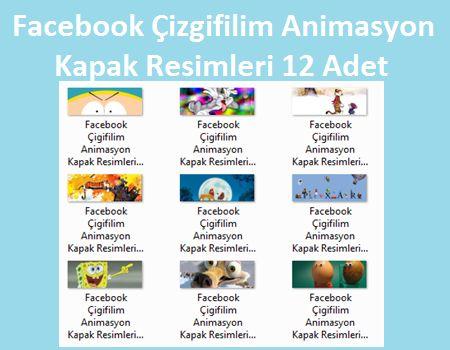 Facebook Çizgifilim Animasyon Kapak Resimleri 12 Adet