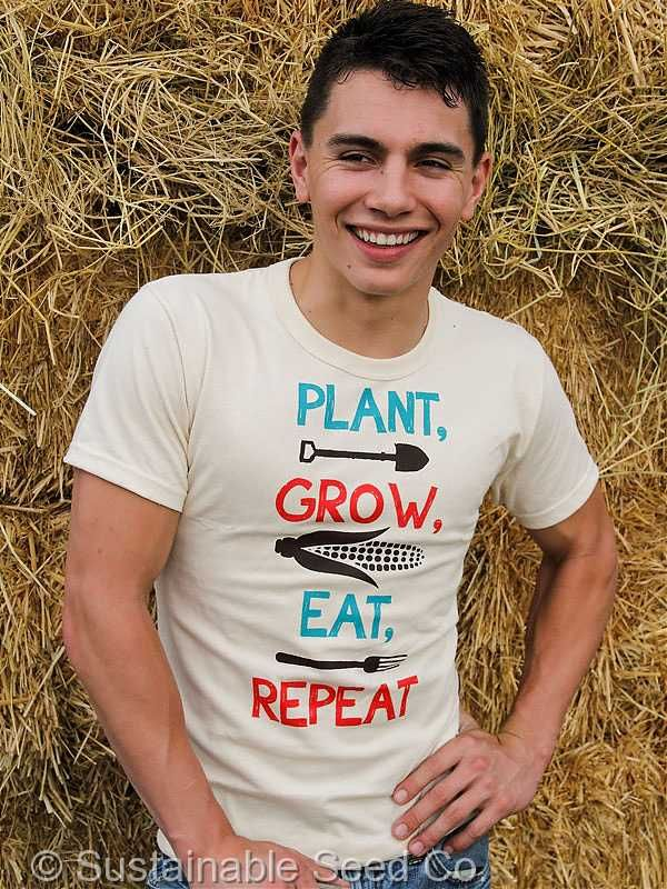 100% Organic T-shirt Grown and produced in the USA!  Support Sustainable Agriculture T-shirt -
