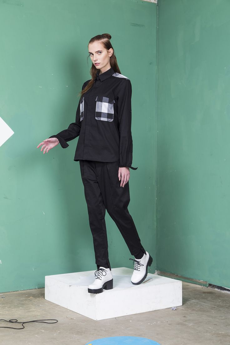 MEI KAWA | Checked Pockets Shirt