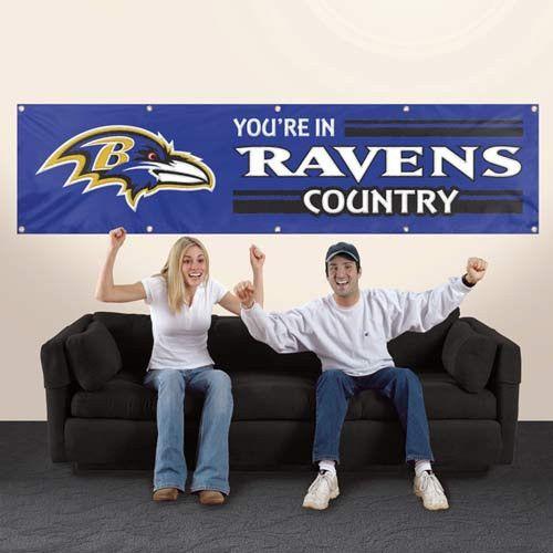 Giant 8' x 2' Banner - Baltimore Ravens