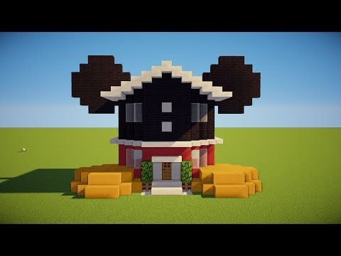 Minecraft Tutorial: How To Make Mickey Mouses Club House! Mickey Mouse house tutorial"