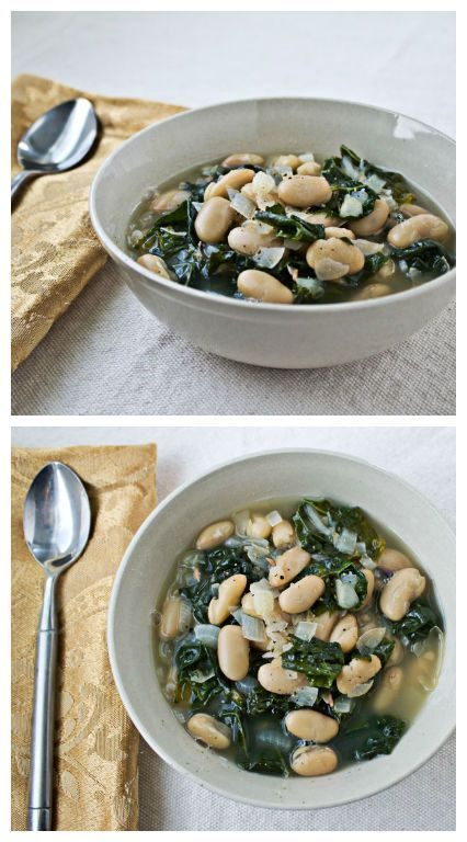 Recover from your holiday binging with this easy, healthful White Bean and Kale Soup. It only takes 7 ingredients and 30 minutes.   Culinary Hill