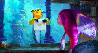 Living Lines Library: Shark Tale (2004) - Concept Art, Color Keys