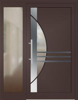 Haustüren modern braun  Die 25+ besten Haustür mit seitenteil Ideen auf Pinterest ...