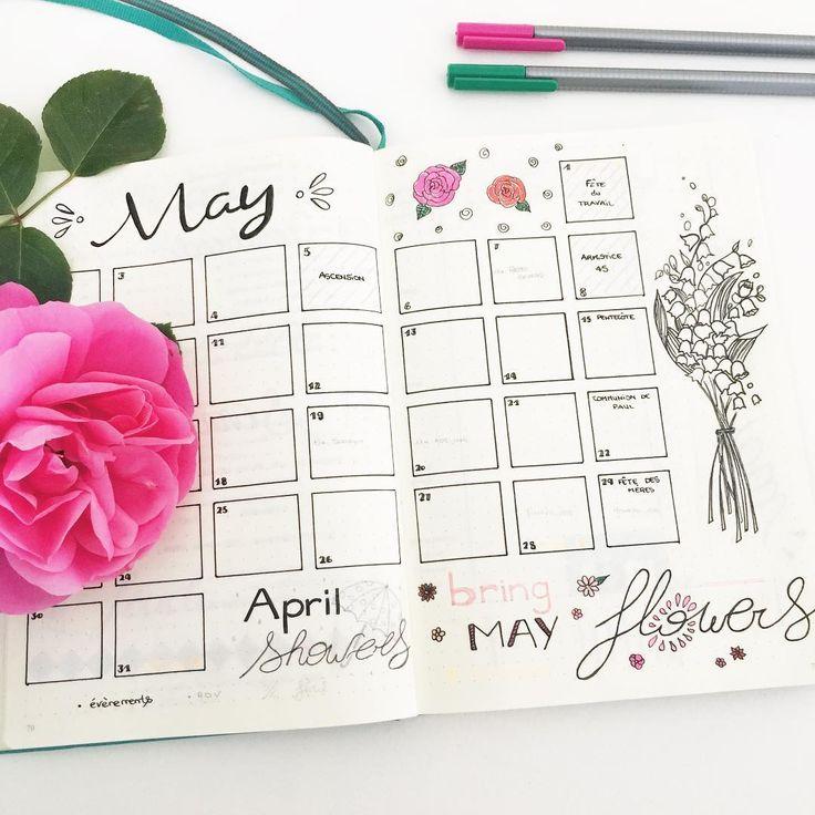 Page mensuelle : Mai ✒ [ Insta @lafilleaucarnet ]
