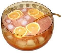 Newfoundland Punch  Ingredients: 2 cups of strong tea 1 cup sugar 1 cup orange juice 1/2 cup lemon juice 1 cup cranberry juice 1 cup pineapple juice Ginger Ale    Recipe: Heat tea and sugar until sugar is dissolved. Add everything except Ginger Ale and cool. When serving, add Ginger Ale to taste and ice with cherries frozen inside the cubes.  https://www.facebook.com/NewfieChatterBox
