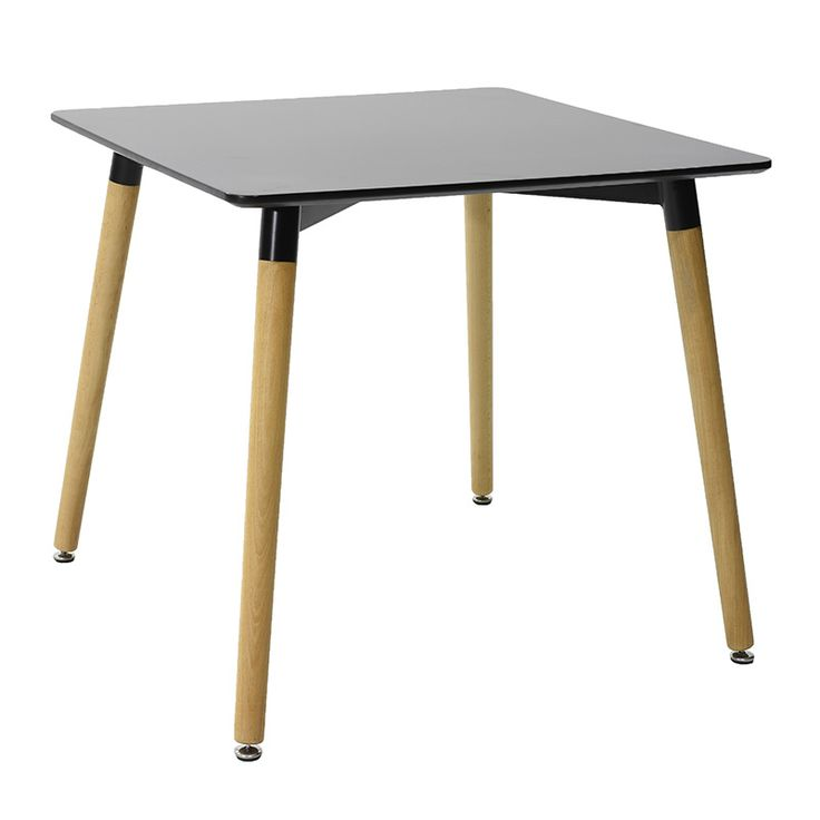 Square table Natali MDF top black 80x80x73