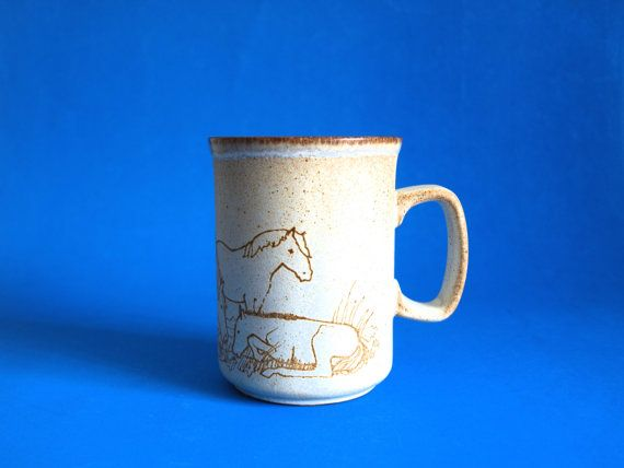 Dunoon Scotland Horse Stallion Mare Farm Mug  by FunkyKoala