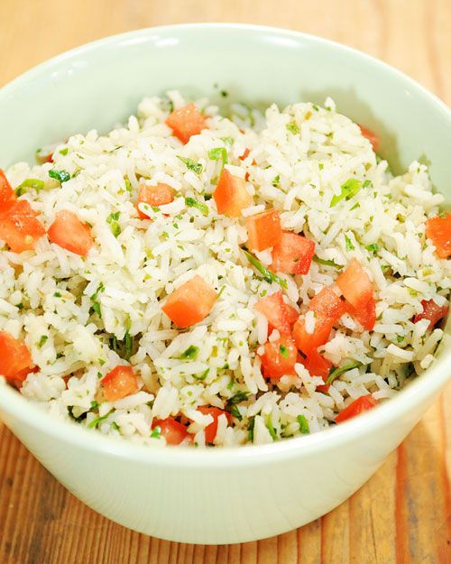 Mexican Rice | Fresh cilantro and spicy jalapeno peppers give this fluffy rice its south-of-the-border flavor.