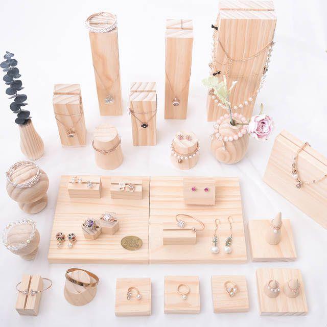 Online-Shop Holz Schmuck Display Halter Anhänger Ohrringe Halskette Armbänder …