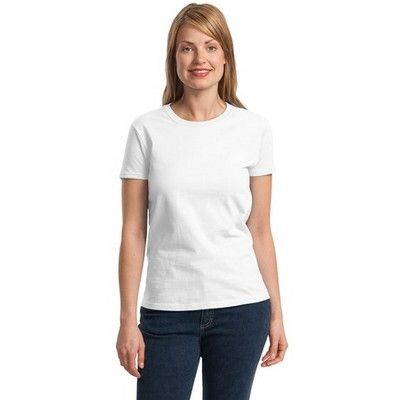 Womens Classic Ultra Cotton Fit White Min 25 - A feminine shoulder, arm and sleeve pattern shirt with seamless double needle collar. Mix and match this product with G-20001-W at the same price. #GildanPrintedTShirts #CottonShirt #WomensCottonTShirt #MensCottonTShirt #UnisexCottonTShirt #KidsCottonTShirt #LongSleeveCottonTShirt #VNeckCottonTShirt #CottonTankTop #CottonTeeShirt #FemaleTankTop