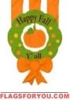 Happy Fall Y'all Wreath Applique Garden Flag