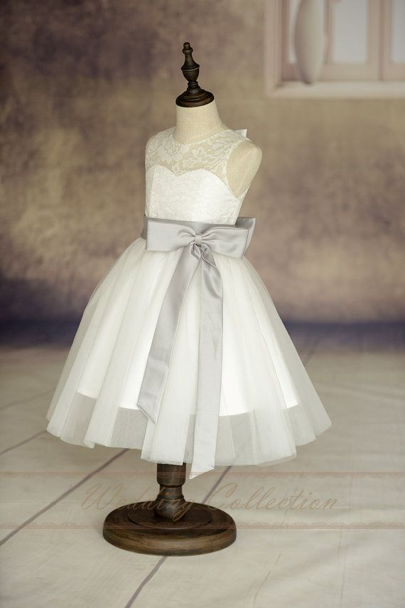 Ivory Lace Tulle Flower Girl Dress With by Weddingcollection